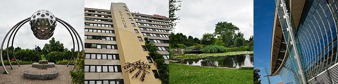 Impressionen aus Laatzen: Park der Sinne, Rathaus, ehemaliger Deutscher Pavillon